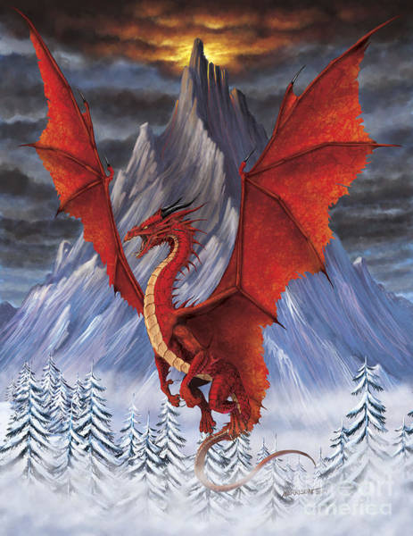 Evil Red Dragon Poster