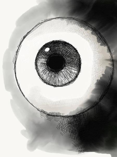 Poster featuring the digital art Eyeball by Antonio Romero