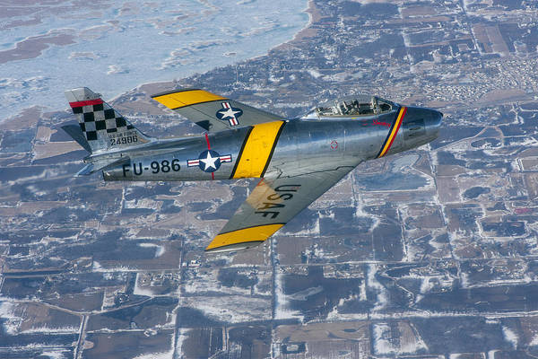 F-86 Sabre Flying 2 Poster