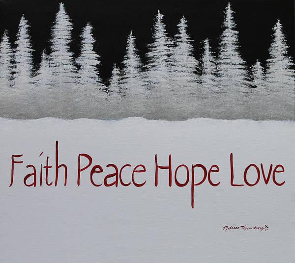 Faith, Peace, Hope, Love Poster