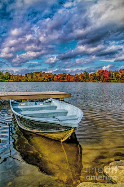 Fall On Alloway Lake Poster