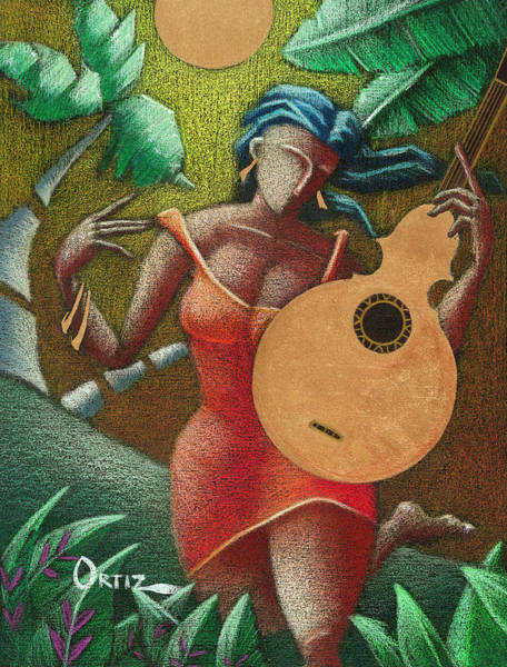 Poster featuring the painting Fantasia Boricua by Oscar Ortiz