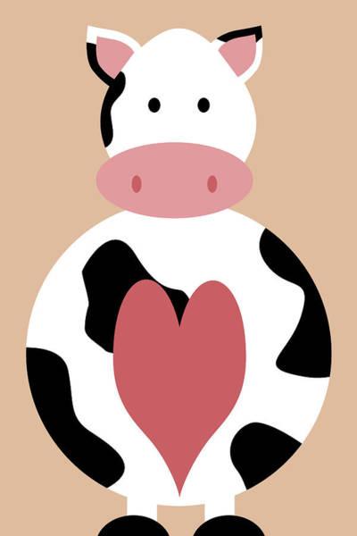 Farm Animals - Cow Poster