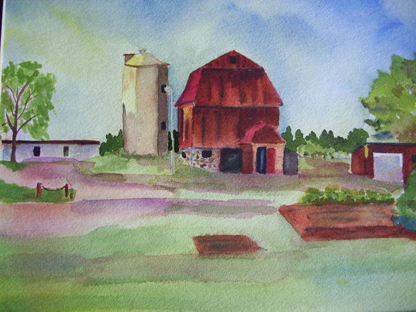 Farm On Hwy K Poster