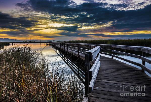 Farmington Bay Sunset - Great Salt Lake Poster