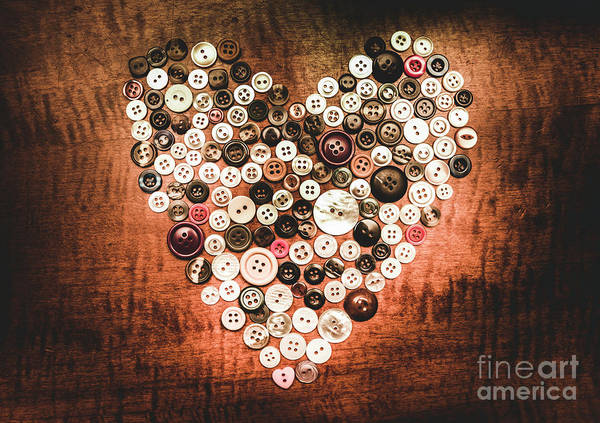 Fashion Button Love Poster