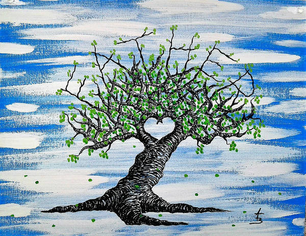 Poster featuring the drawing Father Love Tree by Aaron Bombalicki