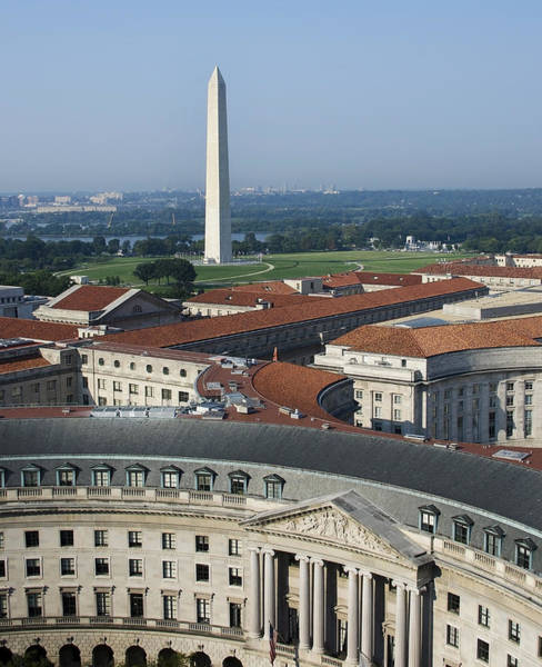 Federal Buildings - The Washington Monument And The National Mall - Washington Dc Poster