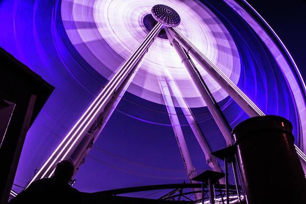 Ferris Wheel At Centennial Park 3 Poster