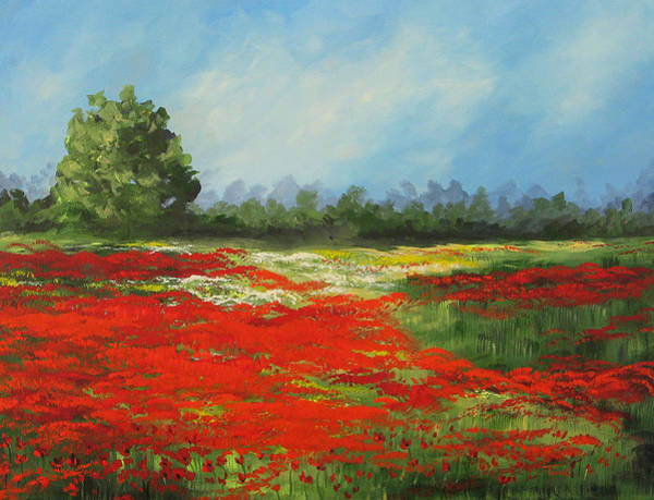 Field Of Poppies Viii Poster
