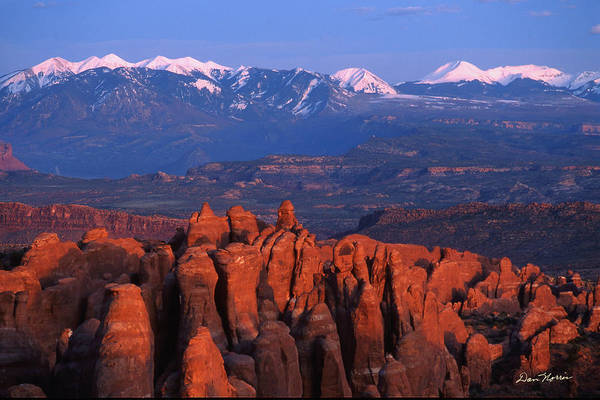 Fiery Furnace And La Sal Mountains Poster