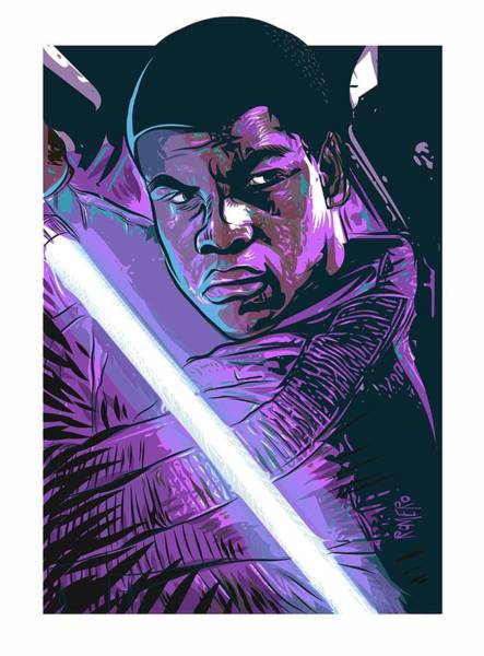 Poster featuring the digital art Finn by Antonio Romero