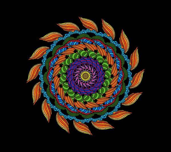 Fire Mandala Poster