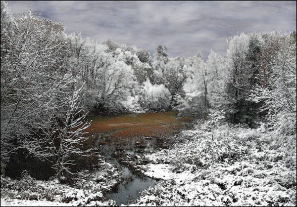 First Snow On An Oxbow Poster