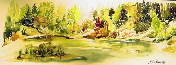 Fish Pond At Nutimik Lake Manitoba Poster