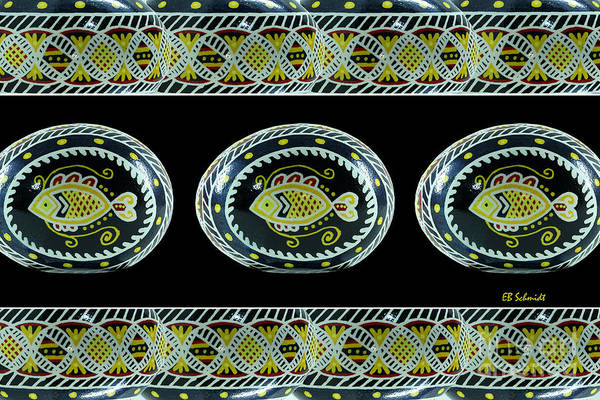 Fish Pysanky Black Poster