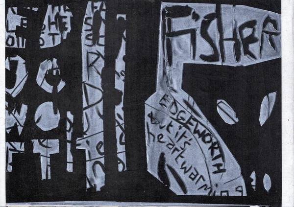 Fisher Covers White On Black Poster