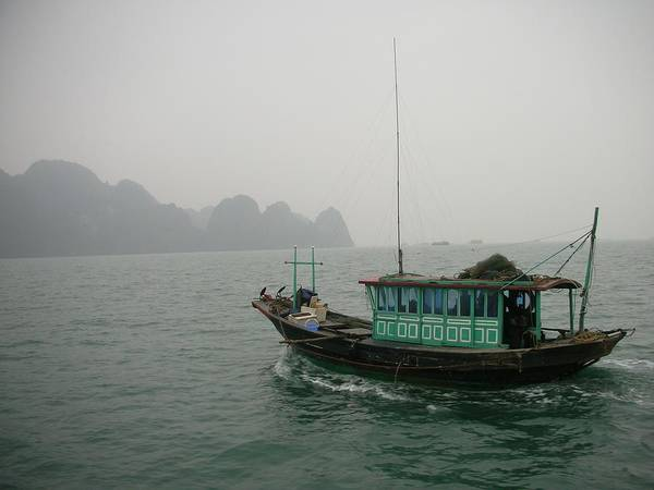 Fishing Boat In North Vietnam Poster
