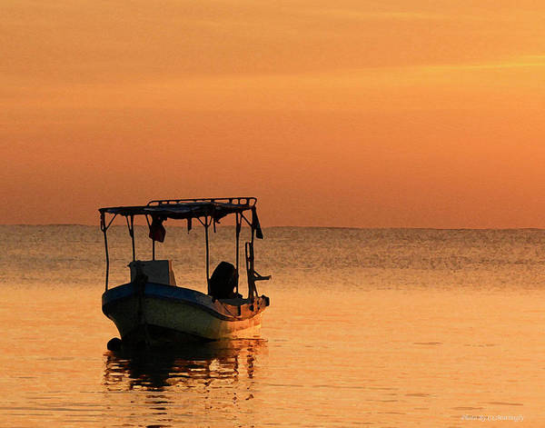 Fishing Boat In Waiting Poster