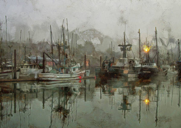 Fishing Fleet Dock Five Poster