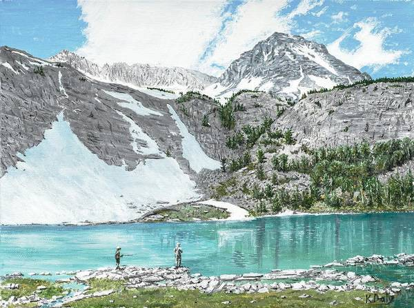 Poster featuring the painting Fishing Gem Lake by Kevin Daly