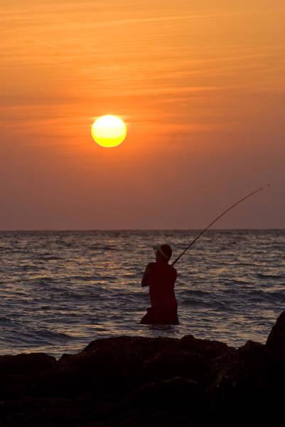 Fishing Lido Beach Poster