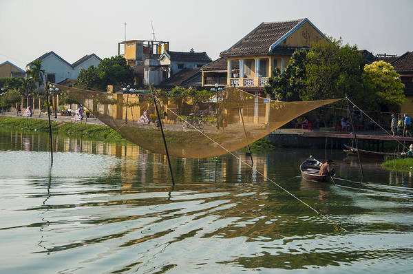 Fishing Net In Vietnam Poster
