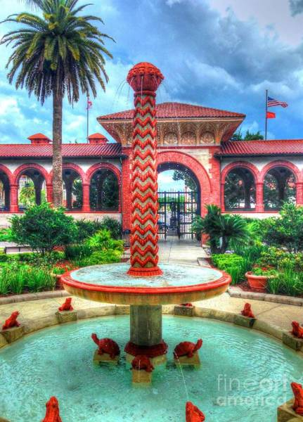 Flagler College Fountain Poster