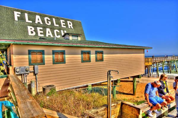 Flagler Pier Postcard Poster