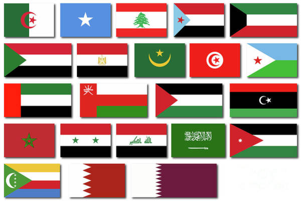 Flags Of The Arab League Poster