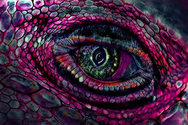 Flaming Dragons Eye Poster