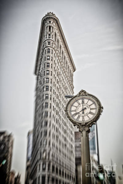 Poster featuring the photograph Flat Iron Building by Juergen Held