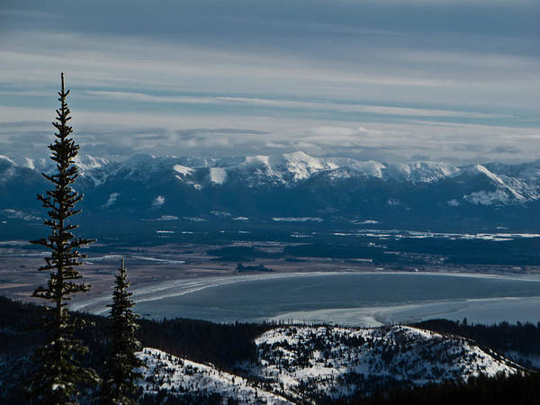 Flathead Valley In The Winter Poster