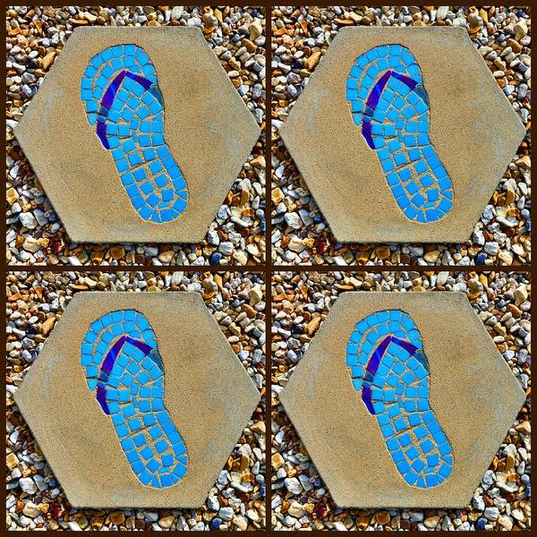 Flip Flop Square Collage Poster