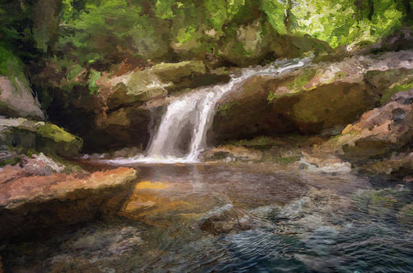 Flooded Waterfall In The Forest Poster