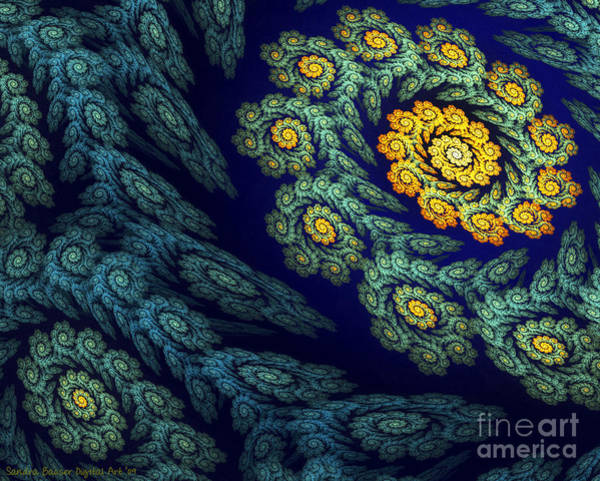 Poster featuring the digital art Floral Abyss by Sandra Bauser Digital Art