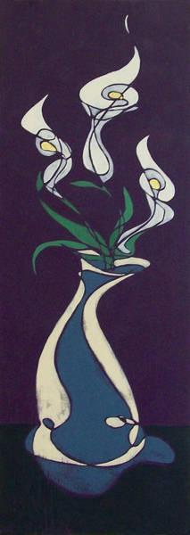 Floral On Violet Poster