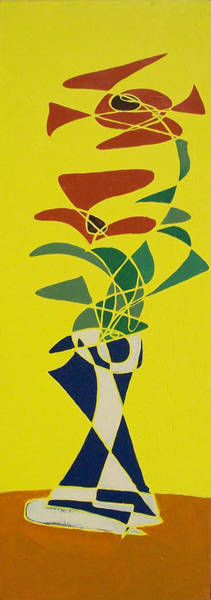 Floral On Yellow Poster