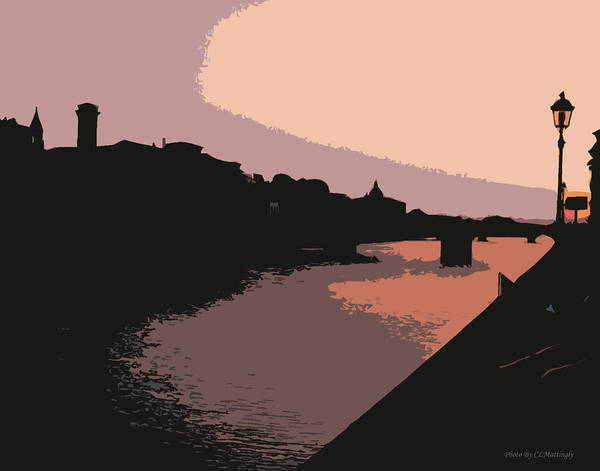 Florence At Night Poster