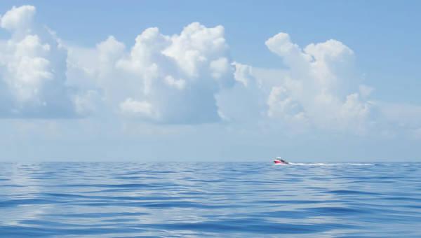 Florida Keys Clouds And Ocean Poster