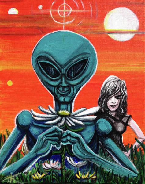 Flower. Alien. Moon Poster