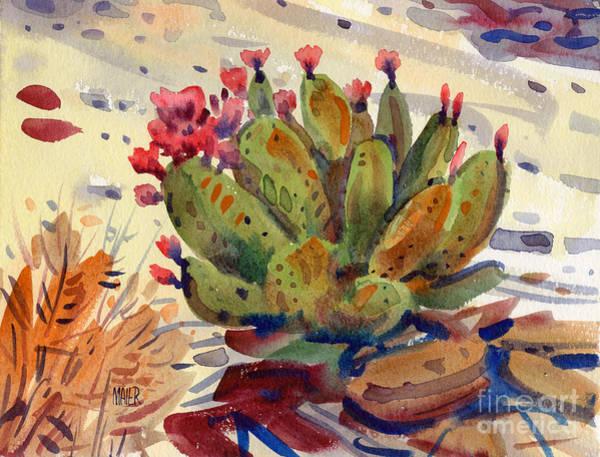 Flowering Opuntia Poster