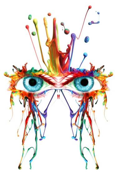 Fluid Abstract Eyes Poster