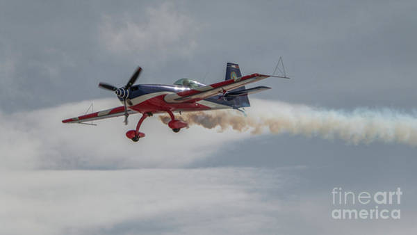 Flying Acrobatic Plane Poster
