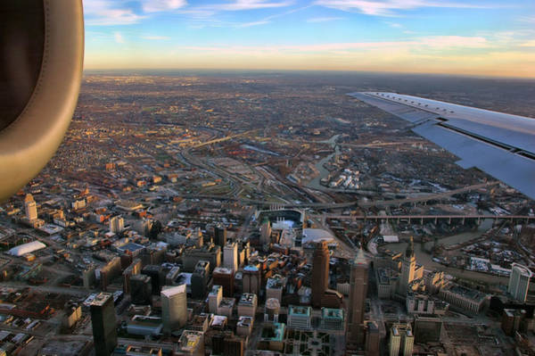 Flying Over Cincinnati Poster