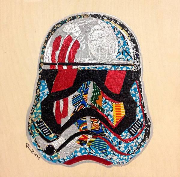 Storm Trooper Fn-2187 Helmet Star Wars Awakens Afrofuturist Collection Poster