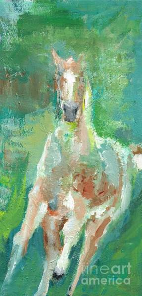 Foal  With Shades Of Green Poster