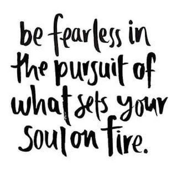 Focus And Be Fearless. The #motivation Poster