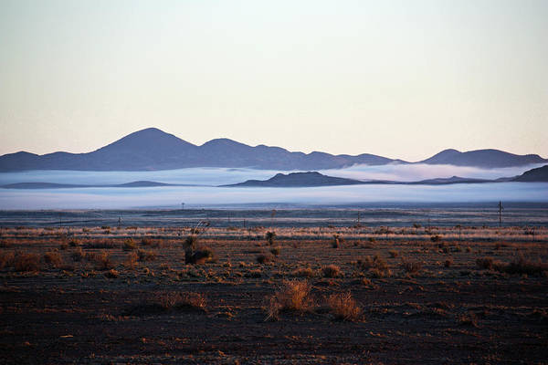 Fog In The Peloncillo Mountains Poster