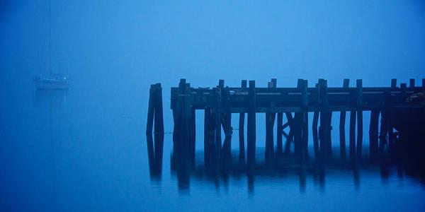 Shrouded In Fog, Morro Bay Poster